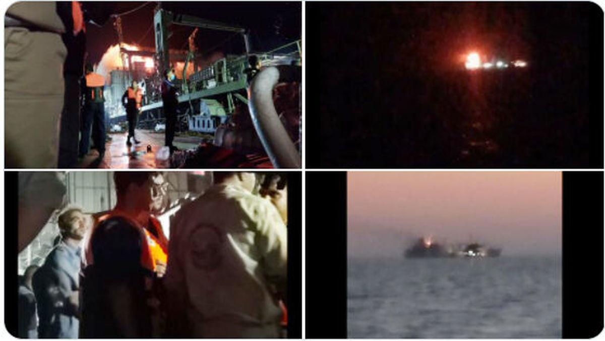 جزئیات جدید از آتش سوزی در ناو خارک
